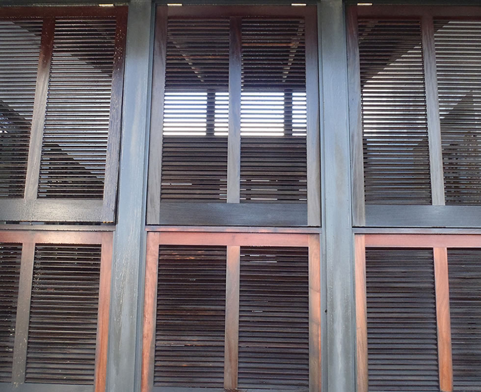 Shutters Before Pressure Washing
