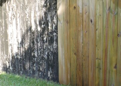 Wood Fence Pressure Washing