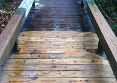 wood walk way cleaning